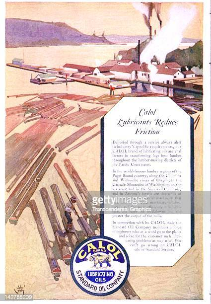 Standard Oil of California advertises is Calol product in this dramatically illustrated advertisement published in San Francisco California in 1920