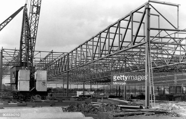 Standard Triumph Paint Trim Shop under construction at assembly facility in Speke Liverpool 3rd May 1967