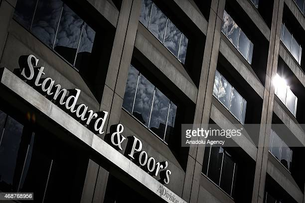 StandardPoor's biggest credit rating institution of the world in New York on April 6 2015 US stocks closed higher led by gains in energy shares as...