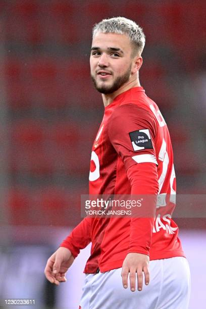 Standard's Nicolas Raskin pictured during a soccer match between Standard de Liege and RE Mouscron, Sunday 20 December 2020 in Liege, on the...