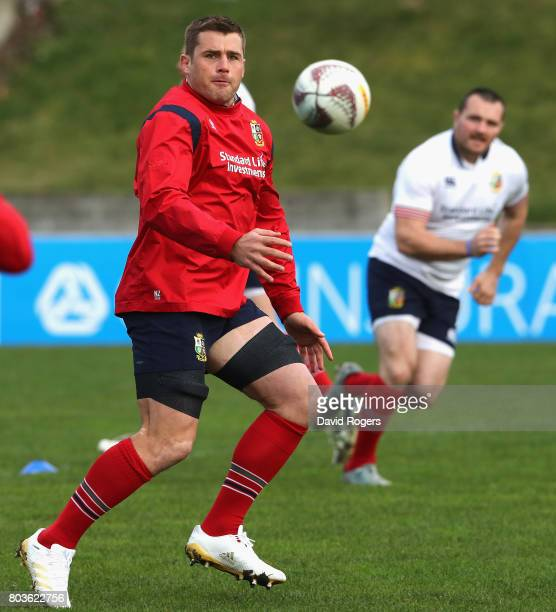 Stander looks on during the British Irish Lions captain's run at Porirua Park on June 30 2017 in Wellington New Zealand