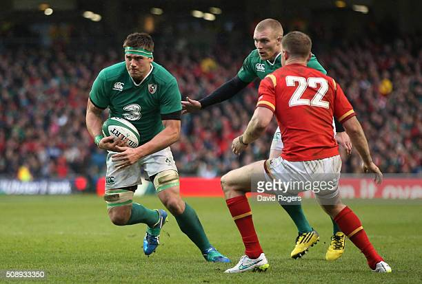 Stander of Ireland charges upfield during the RBS Six Nations match between Ireland and Wales at the Aviva Stadium on February 7 2016 in Dublin...