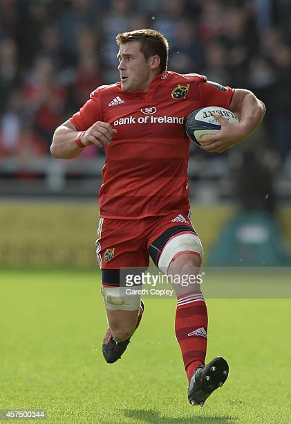 Stander of Munster during the European Rugby Champions Cup match between Sale Sharks and Munster at AJ Bell Stadium on October 18 2014 in Salford...