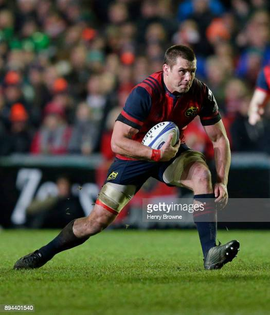 Stander of Munster during the European Rugby Champions Cup match between Leicester Tigers and Munster Rugby at Welford Road on December 17 2017 in...