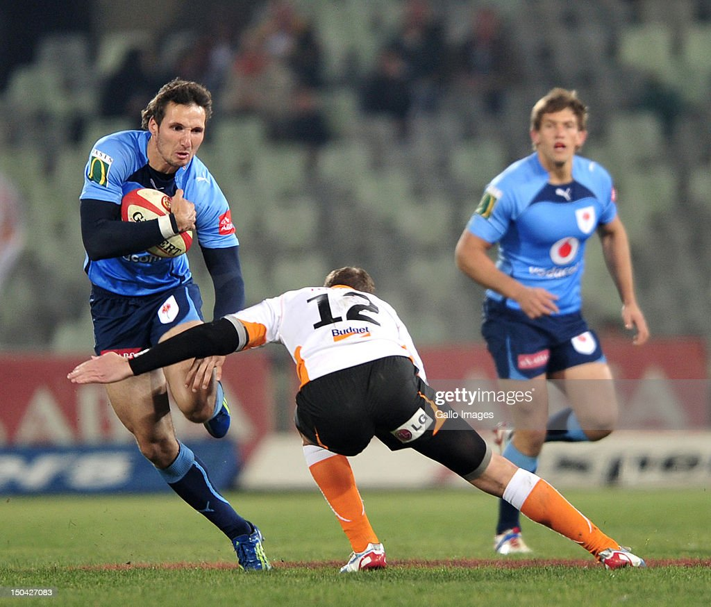 CJ Stander of the Blue Bulls during the Absa Currie Cup match between Toyota Free State Cheetahs and Vodacom Blue Bulls at Free State Stadium on August 17, 2012 in Bloemfontein, South Africa.