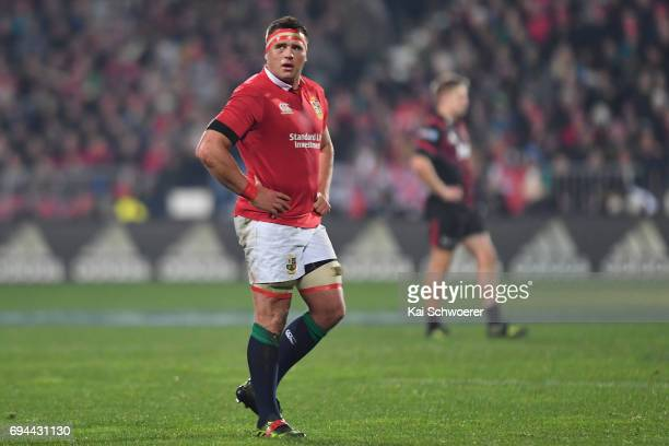 Stander of the Lions looks on during the match between the Crusaders and the British Irish Lions at AMI Stadium on June 10 2017 in Christchurch New...