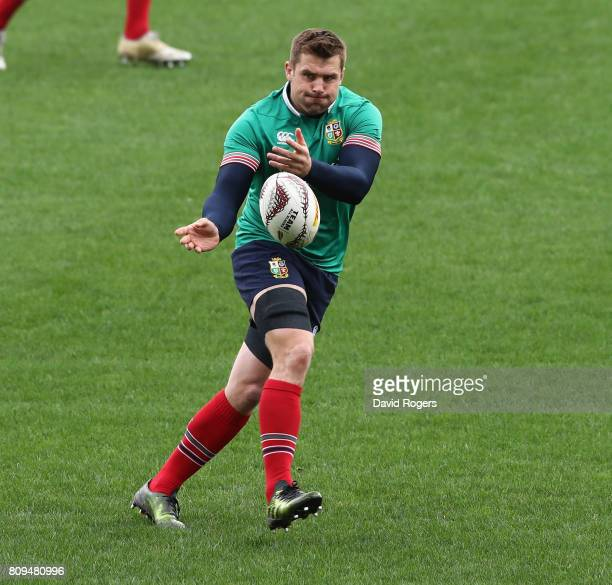 Stander passes the ball during the British Irish Lions training session at QBE Stadium on July 6 2017 in Auckland New Zealand