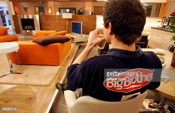 A standin candidate sits in a room during the Big Brother Village Press Tour on February 23 2005 in Cologne Germany