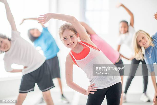 Standing and Stretching During PE