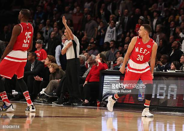 Standing at the half court with time winding down and the crowd chanting shoot Golden State Warriors guard Stephen Curry lets loose a ball that would...