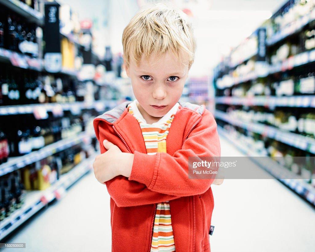 Standing boy : Stock Photo