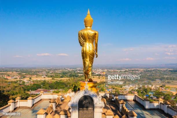 Standing Buddha Statue of Wat Phra That Khao Noi Temple. Nan Province, Thailand
