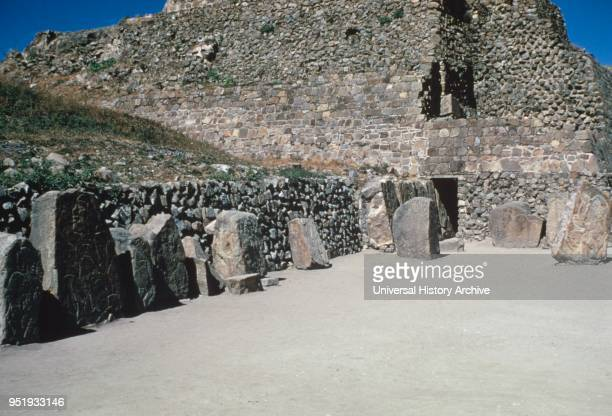 standing figures of the ñLos Danzantesî a collection of more than 300 basreliefs at Monte Alban Monte Alban is a large preColumbian archaeological...