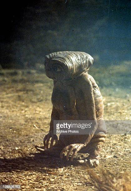 ET standing in a scene from the film 'ET The ExtraTerrestrial' 1982