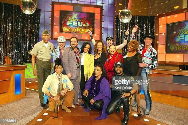 Standing L to R Alexander Briley David Hodo host Richard Karn JaniceMarie Freda Payne Eric Anzalone Martha Wash Thelma Houston Jeff Olson front...