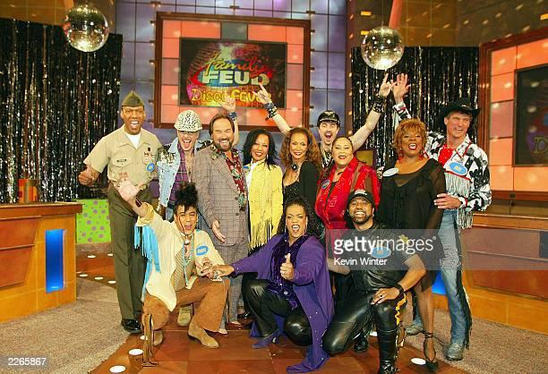 Standing L to R., Alexander Briley, David Hodo, host Richard Karn, Janice-Marie, Freda Payne, Eric Anzalone, Martha Wash, Thelma Houston, Jeff Olson,...