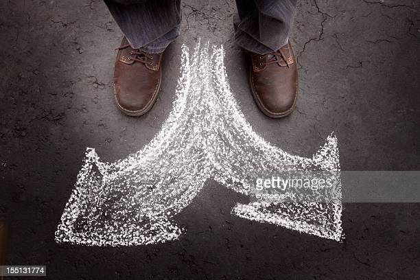 standing man with two choices (business) - number 2 stock pictures, royalty-free photos & images