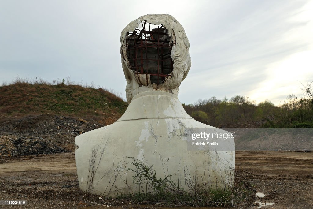 Remnants Of Bankrupted Presidents Park Stored On Private Family Farm In Croaker, Virginia : News Photo