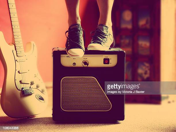 Standing on an Amplifier, Guitar Backdrop