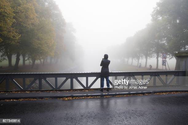 standing on the bridge - djurgarden stock pictures, royalty-free photos & images