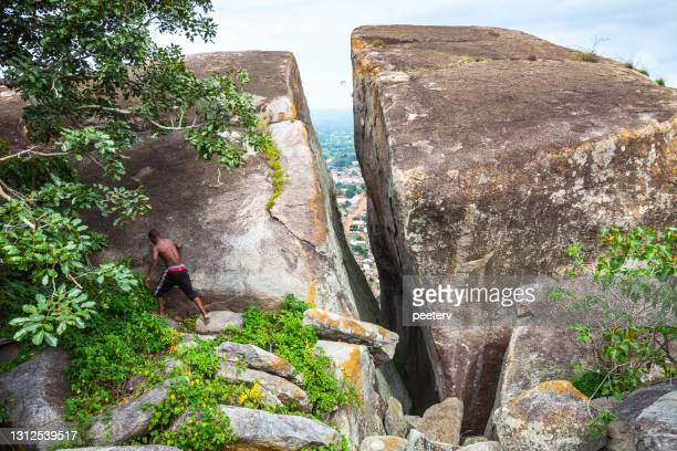 "standing on the hilltop - dassa zoume, benin - ""peeter viisimaa"" or peeterv stock pictures, royalty-free photos & images"