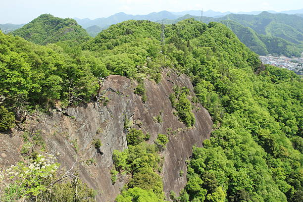 """Standing on the peak of  the rock face """"Chigo Otos"""