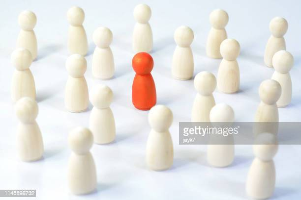 standing out from the crowd - role model stock pictures, royalty-free photos & images