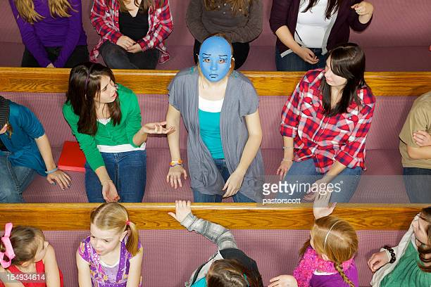 standing out in a crowd - congregation stock pictures, royalty-free photos & images