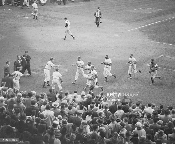 Standing Ovation for Victorious Dodgers Brooklyn New York While joyous Brooklyn fans give their beloved bums a standing ovation Brooklyn Dodgers...