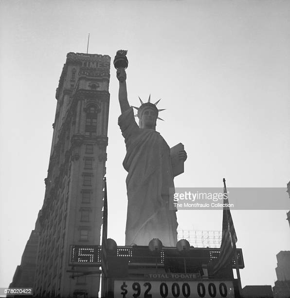 Standing tall over Times Square in New York City, Liberty's sister, a 15 ton replica of the Statue of Liberty which was erected towards the end of...