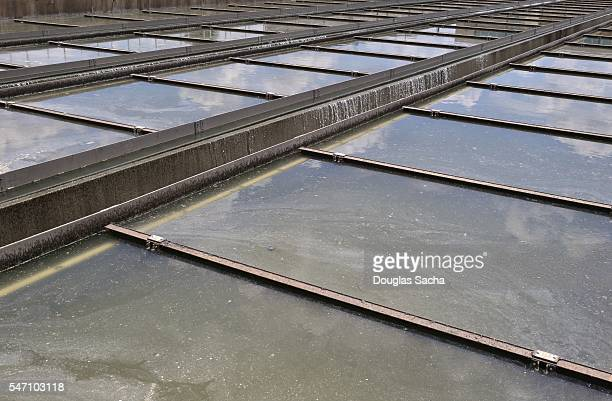 Standing Water at a Environmental Treatment facility, Houston, Texas, United States