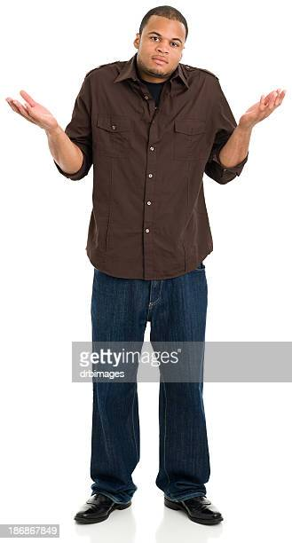 Standing Young Man Shrugging