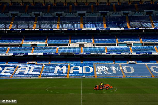 stands at santiago bernabeu stadium - real madrid soccer team stock pictures, royalty-free photos & images