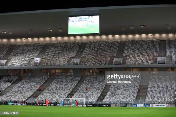 Stands closed with during the Ligue 1 match between FC Girondins de Bordeaux and SM Caen at Stade Matmut Atlantique on January 16 2018 in Bordeaux...