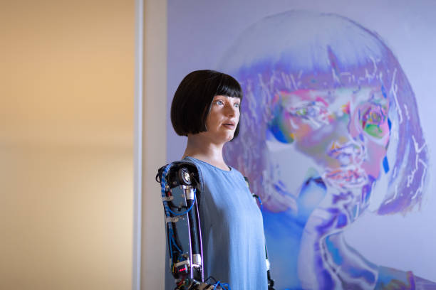 "GBR: ""AI-DA: The World's First Robot Artist"" At The Design Museum - Press View"