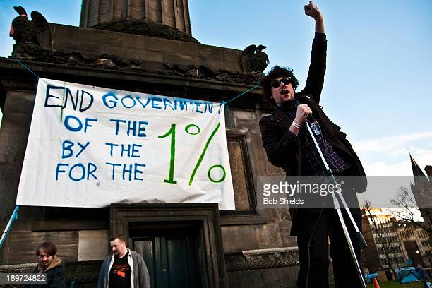 CONTENT] Standup comedian AJ Mitchell performs during the Occupy National Conference in St Andrews Square Edinburgh