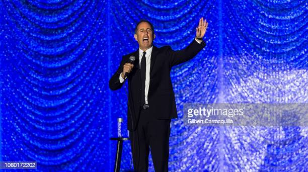 Stand-up comedian and actor Jerry Seinfeld performs during Philly Fights Cancer: Round 4 at The Philadelphia Navy Yard on November 10, 2018 in...