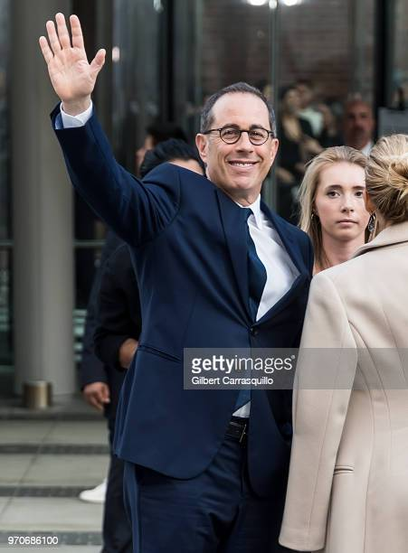 Standup comedian Jerry Seinfeld is seen arriving to the 2018 CFDA Fashion Awards at Brooklyn Museum on June 4 2018 in New York City