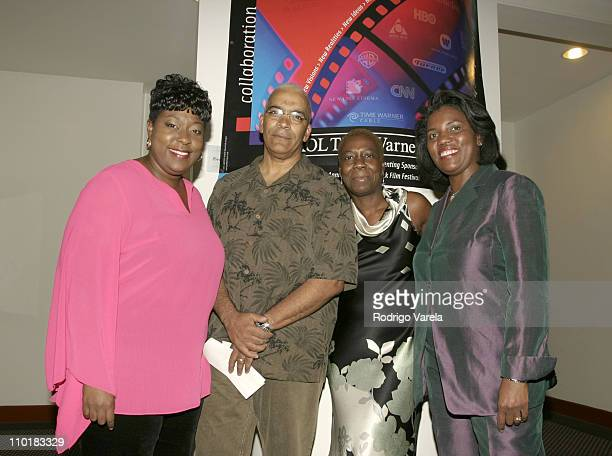 Standup Comedian Loni Love Star Lathan Senior VicePresident of Marketing and Development at HBO Olivia Smashum and VicePresident of Corporate...