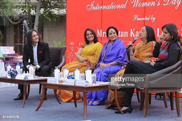 Standup comedian Papa CJ Sonal Kalra Hindustan Times National Editor dance exponent Sonal Mansingh Artist Anjolie Ela Menon and Neha Kirpal Founder...