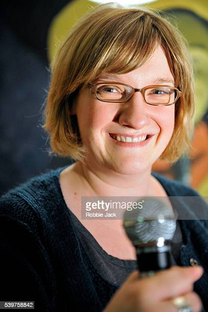 Standup comedian Sarah Millican performing at the Stand Comedy Club as part of the Edinburgh Festival Fringe