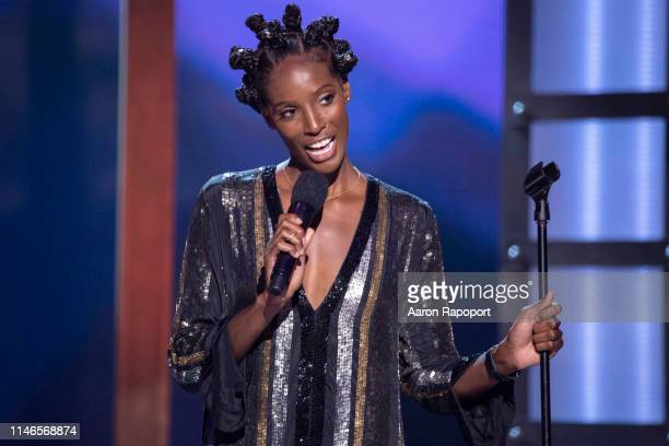 Standup comedian Zainab Johnson performs in Los Angeles California