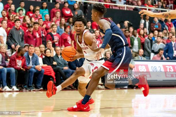 Stanford Cardinal guard Bryce Wills drives the lane during the college men's basketball game between the Arizona Wildcats and Stanford Cardinal on...