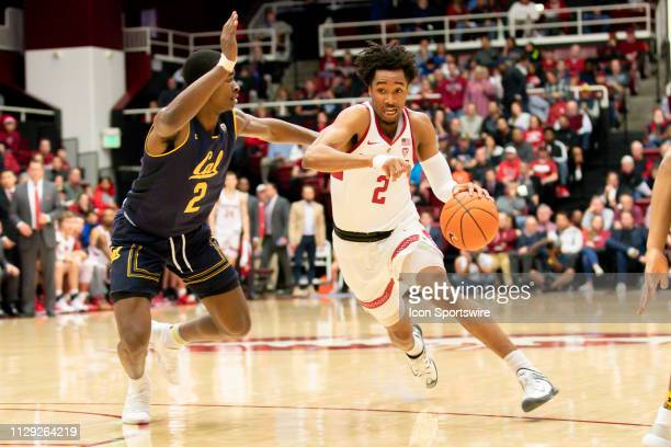 Stanford Cardinal guard Bryce Wills drives the lane during the men's college basketball game between the California Golden Bears and Stanford...