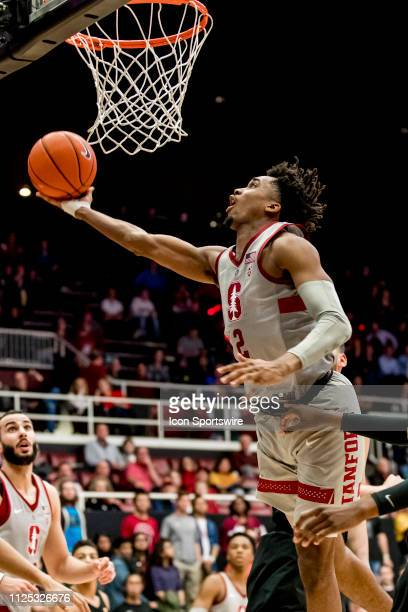 Stanford Cardinal guard Bryce Wills lays in a shot during the men's college basketball game between the USC Trojans and Stanford Cardinal on February...