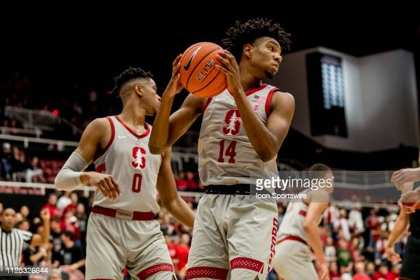 Stanford Cardinal guard Marcus Sheffield turns to head up the court during the men's college basketball game between the USC Trojans and Stanford...