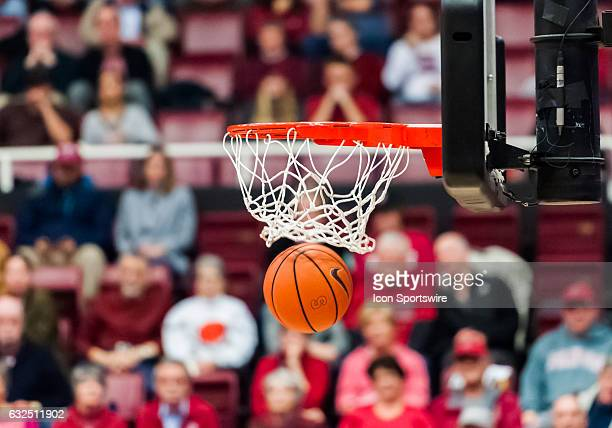 Stanford Cardinal shot making the 'swoosh' sound as it gets all net during the regular season game between the Arizona State Sun Devils and the...