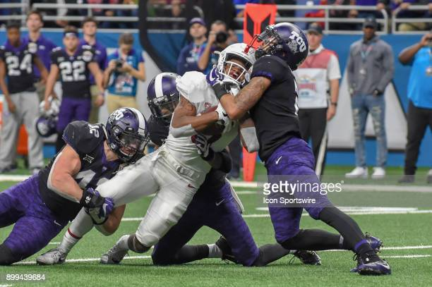 Stanford Cardinals wide receiver Connor Wedington is brought down at the 3 yard line during the Alamo Bowl game between the Stanford Cardinals and...