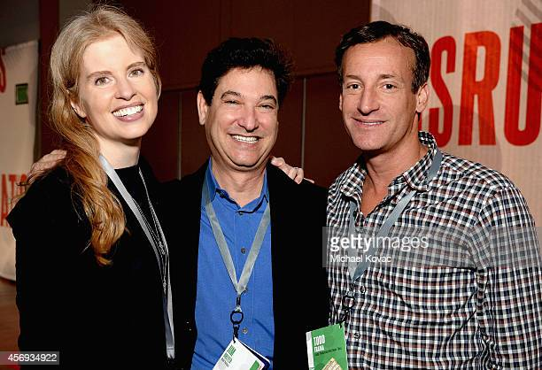 Stanford Center on Philanthropy and Civil Society Founder and Chairman Laura ArrillagaAndreessen Jim Breyer and Todd Traina attend the Vanity Fair...