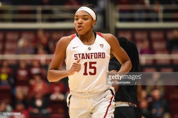 Stanford Forward Maya Dodson during the NCAA Women's Basketball game between the Cal State Northridge Matadors and the Stanford Cardinal at Maples...